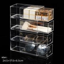 Boîte de rangement multifonctionnelle, organisateur cosmétique, boîte de rangement transparente en acrylique pour rouge à lèvres, brosse de maquillage, papeterie de bureau à domicile, stylo