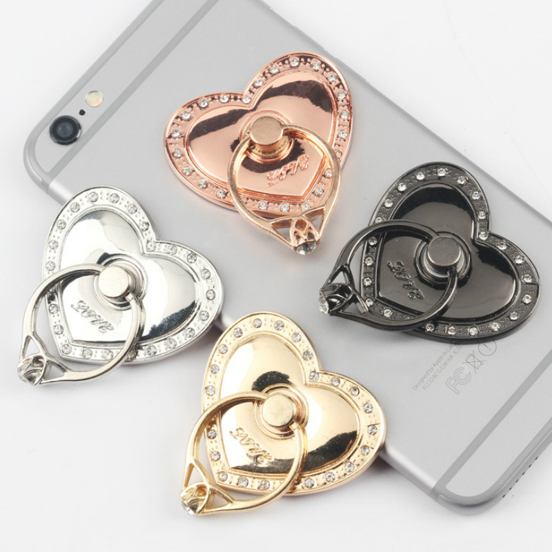 Big Love Shape Round Multi-Function Car Phone Holder Ring Buckle Mobile Phone Case Bracket Smartphone & Tablet Ring Holder