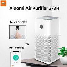 シャオ mi mi 空気清浄機 3 mi 嘉ホルムアルデヒド Cleanner 自動ホーム空気新鮮煙検出器 Hepa フィルター APP リモート制御