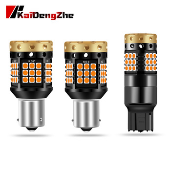 Motorcycle Turn Signal Light 1156 BA15S P21W BAU15S PY21W T20 7440 W21W 3030 45SMD Car LED Light Error Free Built In Canbus 12v 1156 bau15s py21w dual color white ice blue amber yellow switchback led turn signal light error free canbus with resistor drl