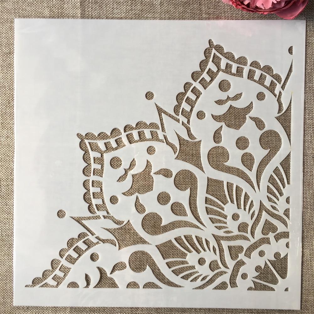 30*30cm M L Mandala 1/4 Wheel Lotus DIY Layering Stencils Painting Scrapbook Coloring Embossing Album Decorative Template