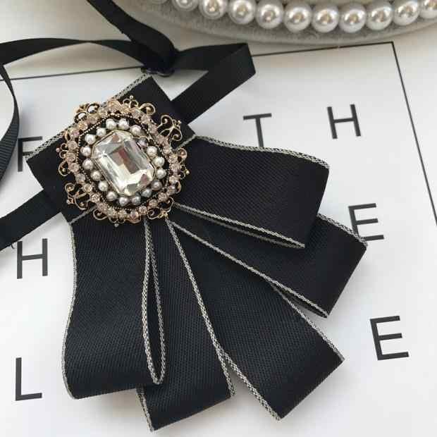 I-remiel, novio, boda, flor de diamante de imitación, pajaritas, accesorios para hombres, uniforme escolar, corbata, camisa, esmoquin, estilo británico