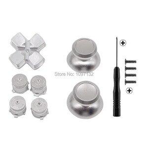 Image 3 - PS4 الإبهام قبضة معدنية الإبهام قبضة الألومنيوم استبدال ABXY رصاصة أزرار Thumbsticks كروم D الوسادة لسوني بلاي ستيشن 4