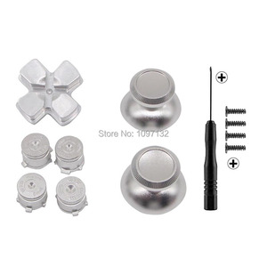 Image 3 - PS4 Thumb Grip Metal Thumb Grips Aluminum Replacement ABXY Bullet Buttons Thumbsticks Chrome D pad for Sony Playstation 4