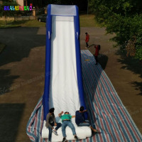 Giant floating inflatable yacht water slide for sale, custom made inflatable yacht slide for sale