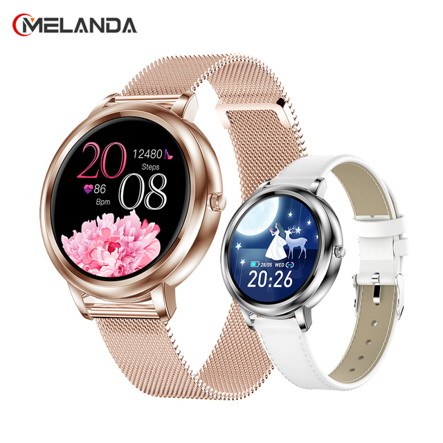 MELANDA 2021 Smart Watch Women Full Touch Screen Heart Rate Monitor Blood Pressure Fitness Tracker Smartwatch For Android IOS