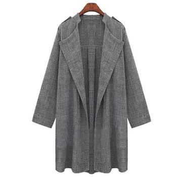 Las mujeres trinchera 2019 abrigo de primavera chaqueta gris guerreras primavera otoño abrigo largo abrigo, foso de las mujeres más tamaño