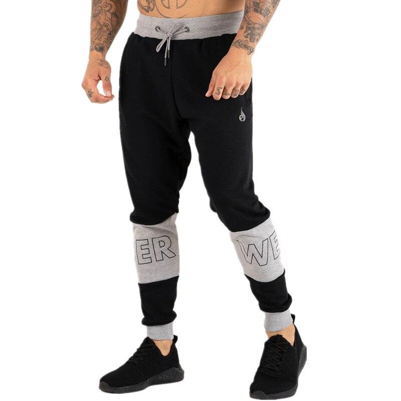 Autumn Fashion Men's Casual Fitness Joggers Sports Pants Men Gyms Stretch Cotton Men Skinny Sweatpants Slim Workout Trousers