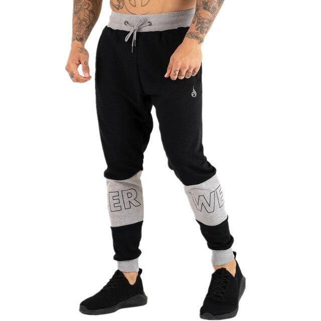 Pantalon de sport pour homme, pantalon de Fitness pour jogging, en coton extensible, vêtement Slim pour entraînement, automne, décontracté