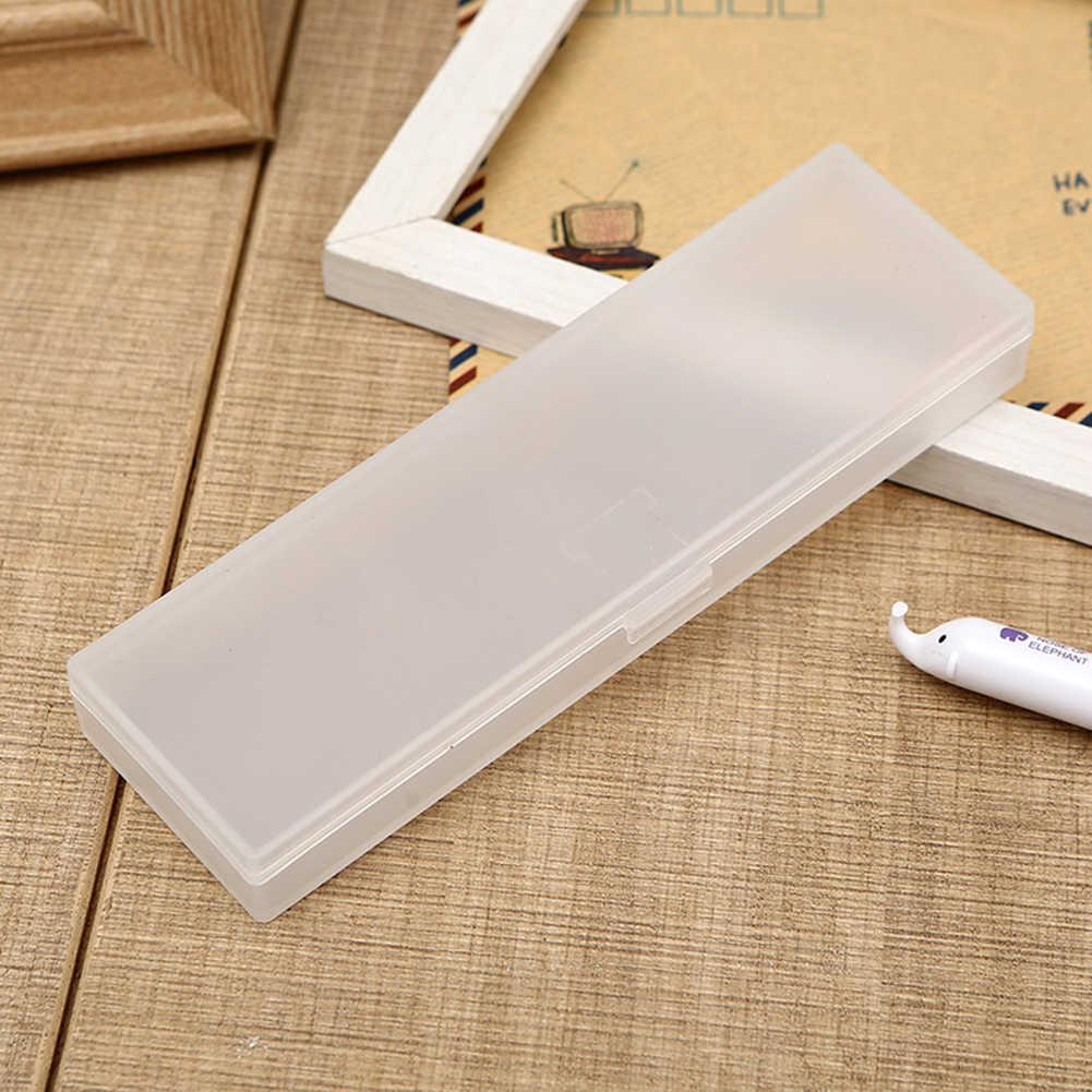 Moda şeffaf buzlu büyük kapasiteli kalem kutusu kalem kutusu kırtasiye tutucu