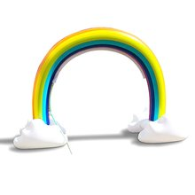 Kids Inflatable Water Sprinkler Rainbow Play Toy Child Fun Garden Outdoor Beach Safe Environmental Pvc Material
