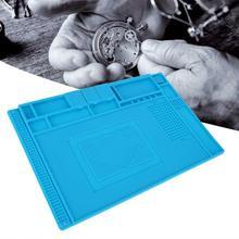 Alfombrilla de goma multifuncional para reparación de relojes, almohadilla de mesa para mantenimiento de electrónica, herramienta de reparación de relojes
