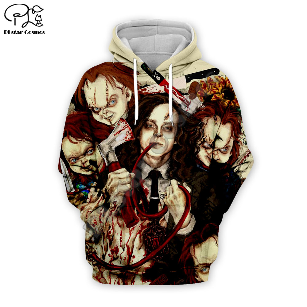 Men Women Halloween Print Child's play <font><b>3d</b></font> <font><b>Hoodies</b></font> <font><b>unisex</b></font> harajuku Sweatshirts casual autumn zipper pullover tracksuit image