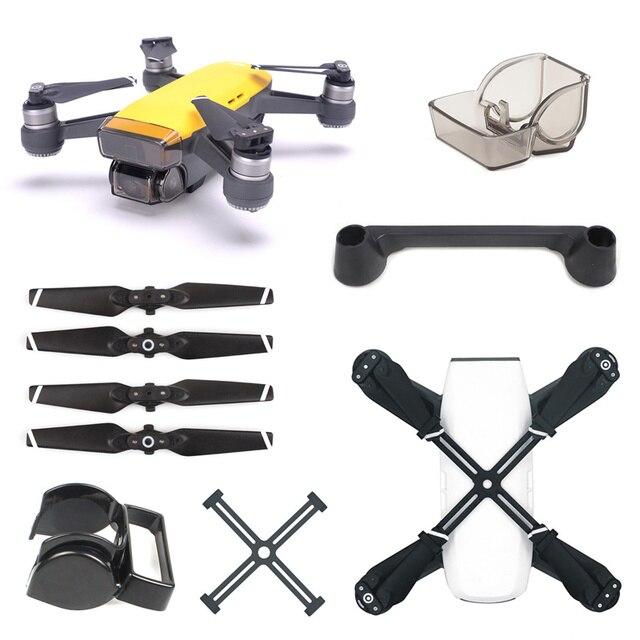 Аксессуары для DJI Spark, пульт дистанционного управления, джойстик + крышка объектива + солнцезащитный козырек + пропеллер + Защитная опора для DJI Spark Drone