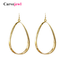 Carvejewl drop dangle earrings simple metal big tear drop earrings for women jewelry girl gift plastic hook anti allergy earring цена и фото