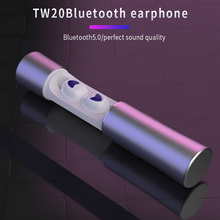 Bluetooth Headset Aluminum Case Wireless In-Ear Earphones Noise Reduction Sports Magnetic LH