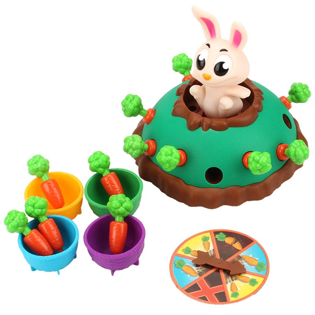 Children Toy Bunny Electric Puzzle Board Game Parent-child Interactive Toy Party Game Jumping Rabbit Pulling Carrot Puzzle Game