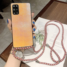Strap Case For Samsung Galaxy S21 Ultra S20 FE S10 Note 10 Plus Note 20 Ultra Necklace Lanyard Crossbody Snake Silicone Cover