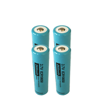 4x PKCELL ICR 18650 Rechargeable 3.7V 2600mAh Lithium Li Ion Battery button Top for Flashlight