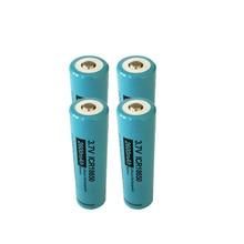 Botón superior para linterna, pila de ion de litio recargable, 18650 V, 3,7 mAh, 4x PKCELL ICR 2600