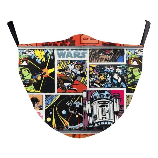 American comic book Star Wars Miles Morales Cosplay Kids Face Mask Dustproof Adult Masks 1