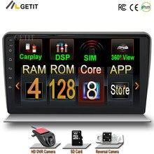 Jogador estereofônico do rádio do carro de 128g android para audi a3 8p s3 2003-2012 rs3 sportback 2011 gps navegação multimídia jogador bt wifi dsp
