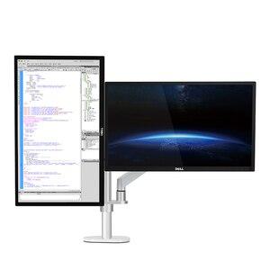 Image 5 - Hyvarwey OL 2Z pulpit 17 32 calowy podwójny Monitor ramię montażowe pełnoekranowy aluminiowy uchwyt monitora sprężyna gazowa ramię obciążenie 2 8kg każdy