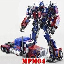 Com caixa de transformação wj mpm04 op optimus espadachim liga deformação crianças brinquedos figura ação robô crianças presentes