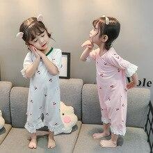 Sleepwear Nina Baby-Girls Pajamas Ropa-De-Bebe Summer Jumpsuit Romper Lace Beathable