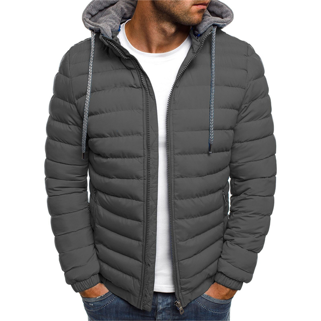 NaranjaSabor Fleece Parka Coat Mens 2020 Winter Thick Hooded Cotton Outwear Men Fashion Jacket Male Casual Brand Clothing N604 1