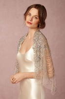 Bridal wrap Bridal Wedding jacket Summer lace thin shawl Handmade Beaded Wedding Dress shawl