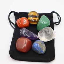 7 pçs/set Reiki Pedra de Polimento De Pedra Natural Tombado pedra Irregular Quartzo Talão Para a Cura Chakra Energia Yoga Decoração