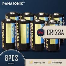 8 sztuk nowy Panasonic CR123 CR123A CR 123A 123A CR 123 A123 CR17345 16340 3V bateria litowa do aparatu latarka suche baterie