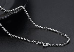 """Image 4 - 18K Solid Gold Rolo Kette Halskette Männer Frauen 16 """"18"""" 20 """"22"""" 24 """"GARANTIERT 18KT REINEM GOLD 2mm Link Halskette Frühling Verschluss Weibliche"""