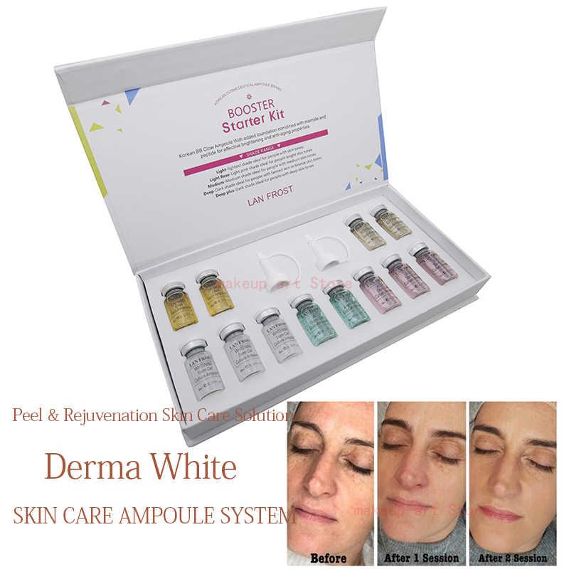 12 Cái/hộp BB Cream Dermewhite Bb Serum Mix Bộ Khởi Đầu Với Kem Nền Bb Niacinamide Derma Bút Cho Hiệu Quả Làm Sáng Da