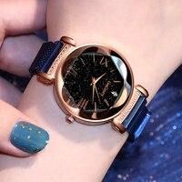Frauen Uhr Gogoey Luxus Persönlichkeit Romantische Stern Uhren Kristall Magnet Schnalle Damen Zeit Uhr Relogio Feminino