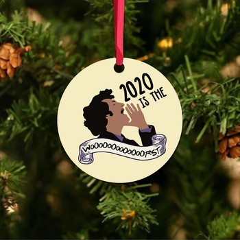 top selling 2020 Wearing Mask Christmas Ornaments 2020 Badly But Merry Christmas Tree Decoration Support Wholesale Dropshipping image