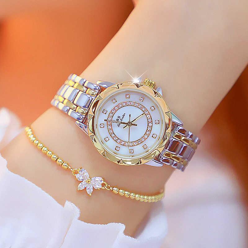 Diamant femmes montre de luxe marque 2019 strass élégant dames montres or Rose horloge montres pour femmes relogio feminino