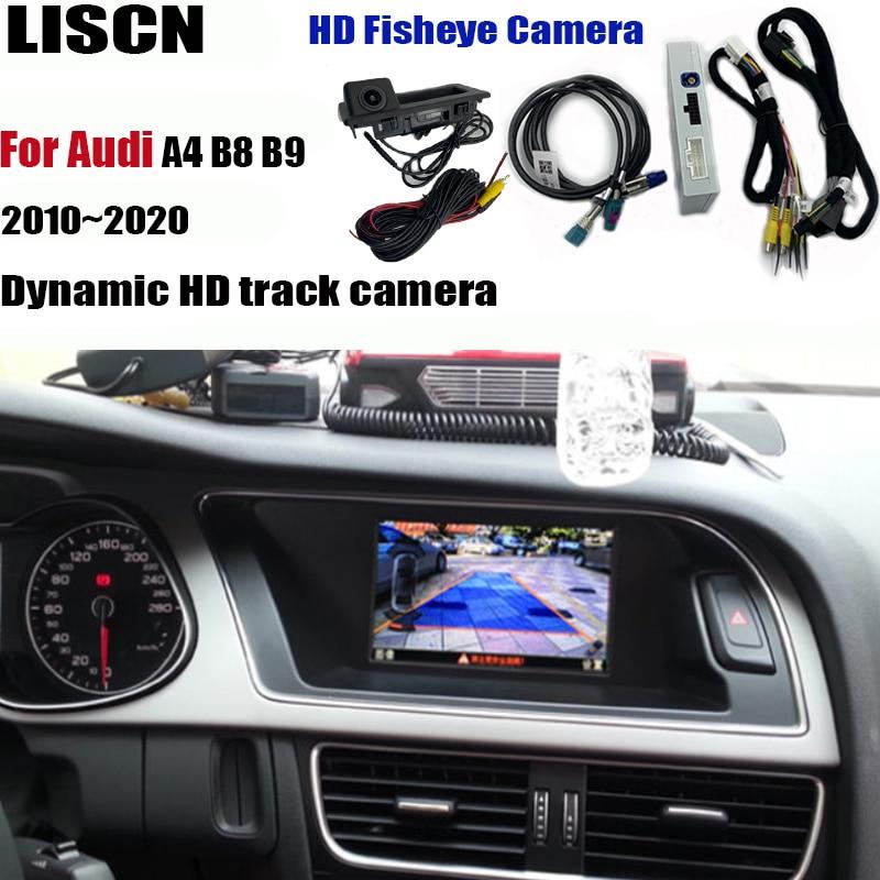 Cámara de visión delantera y trasera para Audi A4 B8 B9 2010 ~ 2020, adaptador de interfaz, cámara de estacionamiento, conectar la pantalla original decodificador MMI