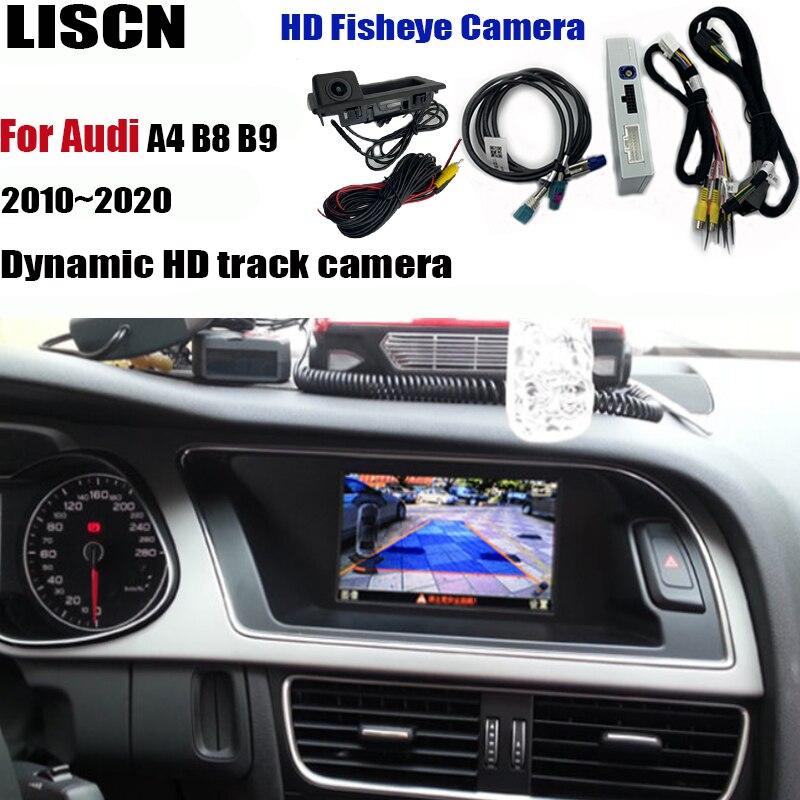 Câmera de visão traseira e dianteira para audi a4 b8 b9 2010 ~ 2020, adaptador de interface, câmera para estacionamento, tela original mmi decodificador,