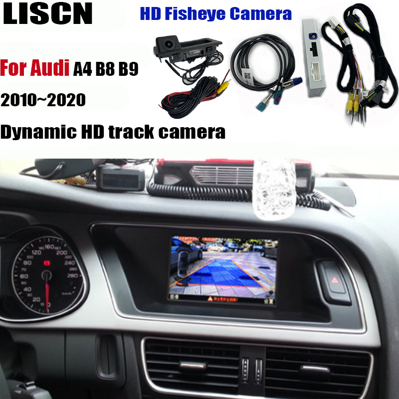 Front Rear view camera For Audi A4 B8 B9 2010~2020 Interface adapter Parking camera connect original screen MMI decoder