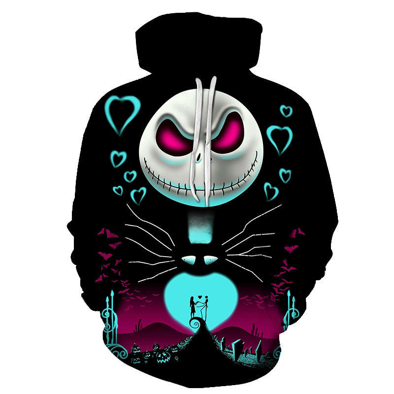 Men Women Shirt/Hoodies/Tees Outerwear Halloween Gift Nightmare Before Christmas Jack 3D Print Female/male Hoody Sweatshirt