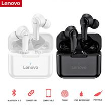 Lenovo Wireless Earphone Bluetooth V5.0 Touch Control Headphones Stereo Hd Talking With 400mah Battery QT82 for Smartphone