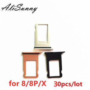 Image 1 - AliSunny 30pcs SIM Card Tray Holder Slot voor iPhone 8 Plus X 8 P 8G SIM Card Adapter waterdichte Afdichting Vervangende Onderdelen