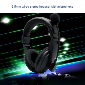 Image 3 - 3.5mm kablolu bilgisayar oyun Stereo kulaklıklar oyun kulaklık kulaklık PC için Mic ile Skype MSN PS4 Play Station 4
