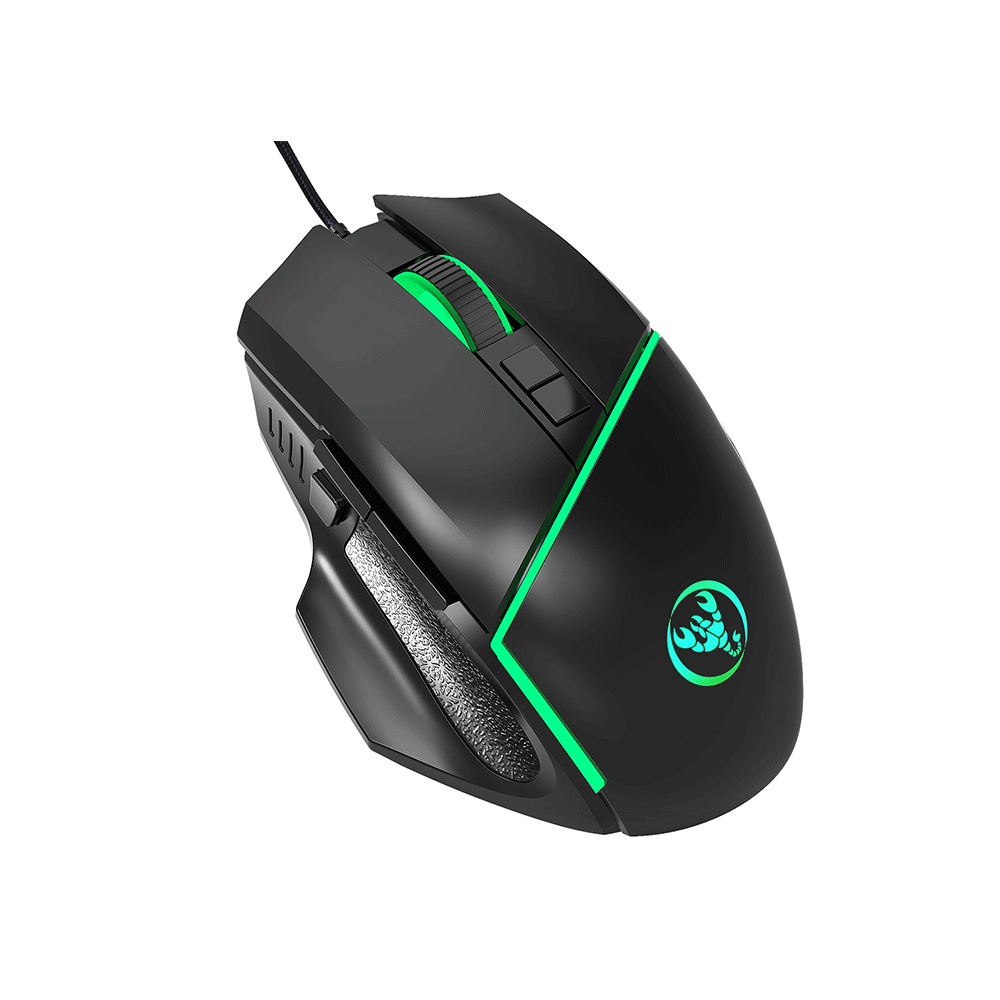 Gaming Mouse Adjustable 6400DPI Mechanical  Mouse Gaming 7 Keys LED light Wired USB Mice For PC Laptop Professional