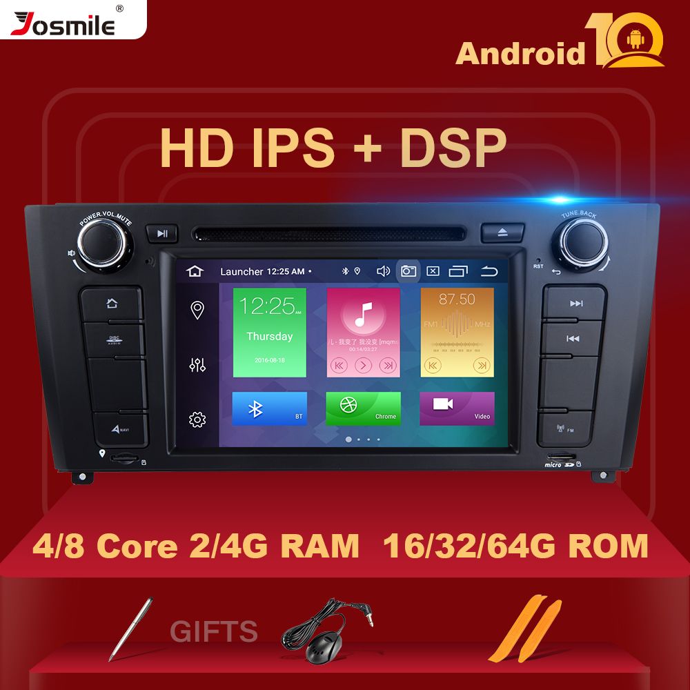 IPS DSP 4GB RAM 64G Qcta Core 1 Din Android 10 Car Radio DVD For BMW E87 BMW 1 Series E88 E82 E81 I20 GPS Navigation Multimedia image