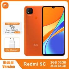 Version globale Xiaomi Redmi 9C 9 C 2GB/ 32GB 3GB/64 GO Téléphone Portable Helio G35 Octa Core 13MP Caméras Triples 5000mAh 6.53