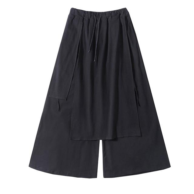 Men Casual Baggy pants Hip-hop Trouser Dancing Wide leg Pants Gothic Punk Style loose Pants Men 5