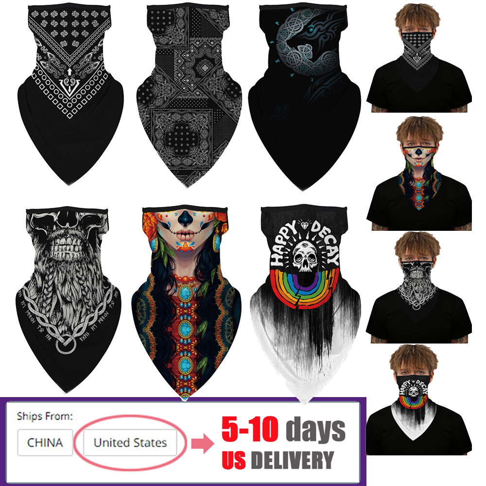 Face Cover Balaclava Scarf Neck Outdoor Sport Earloop Headband Unisex Fashion Funny Windproof Dust Scarf Wrap Camping Accessory(China)